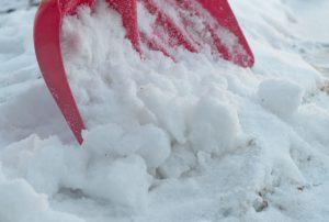 須賀川整体院、雪かき